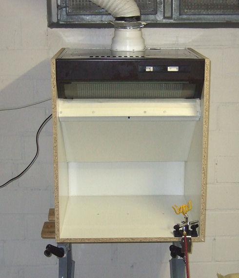 die airbrushkabine zur anlage ralf und niko b ker. Black Bedroom Furniture Sets. Home Design Ideas